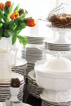 10 GREAT TIPS FOR USING WHITE DISHES - StoneGable