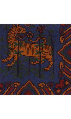 Drakes London Tiger Pocket Square
