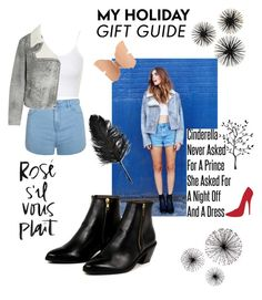 """MY HOLIDAY Gift Guide"" by anicute on Polyvore featuring beauty, Topshop, Ally Fashion, McQ by Alexander McQueen, AZI and Neiman Marcus"
