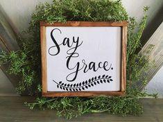 Say Grace sign| Farmhouse Decor| Farmhouse Sign| Small Wood Sign| Say Grace Wood Sign| Rustic Kitchen Decor| Rustic Kitchen Sign| Wood Sign