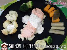 Descubre la cocina de Suecia con una receta clásica y baja en calorías, salmón escalfado con mayonesa de eneldo. No dejes de probarla!