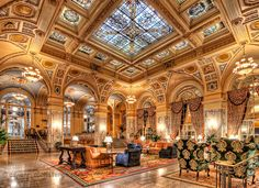The Hermitage Hotel in Nashville is truly beautiful.