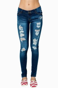 Placement Destroy Skinny Jean