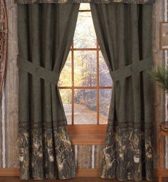 Browning Whitetails Rod Pocket Curtains