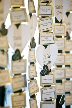 Table seating plan at my wedding