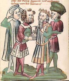 'Virginal' — Hagenau - Werkstatt Diebold Lauber, um 1444-1448 Cod. Pal. germ. 324 Folio 215v