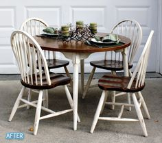 Better After - Love this look!  Maybe I will finally redo my table and chairs