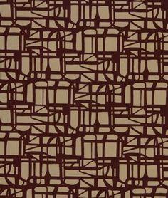 Robert Allen Contract Gridded Maze Ember Fabric - $25.55 | onlinefabricstore.net