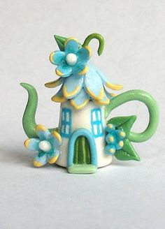 Miniature Fairy Blossom House Teapot, by C. Rohal