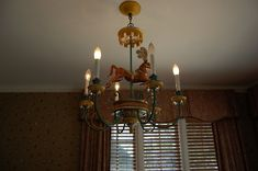 Love the chandelier via Between Naps on the Porch