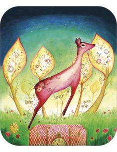 """Jehanne Weyman carte postale """"Biche"""""""