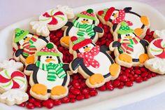 Penguin Christmas Cookies #penguin #cookies