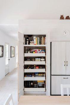 Walmart kitchen storage cart kitchen shelves home depot kitchen Kitchen Pantry Design, Kitchen Tops, Kitchen Shelves, Kitchen Layout, Diy Kitchen, Kitchen Storage, Kitchen Decor, Kitchen Pantries, Kitchen Ideas