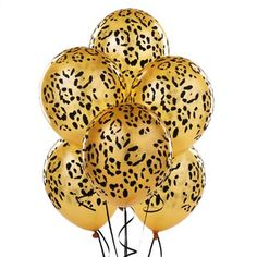 Leopard Spots Latex Balloons (6 count) Cheetah Print Party, Animal Print Party, Leopard Party, Farm Animal Party, Safari Party, Animal Prints, Leopard Wedding, Jungle Party, Baby Party