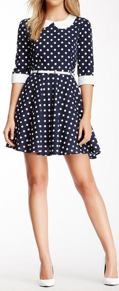 Flared dot dress