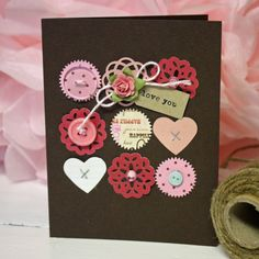 Different punches...love this on the dark cardstock!