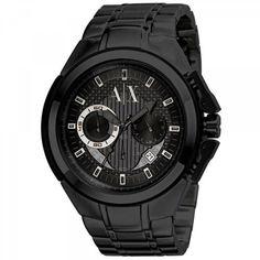 Reloj Armani Exchange Chronograph Black Ionic Stainless Steel Mens Watch AX1116