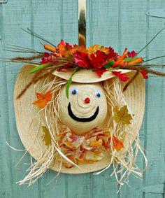 6. Straw Hat Scarecrow