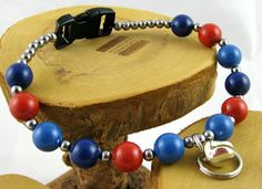 Taos blues and red coral colors Swarovski Pearl by OklahomaMama, $12.00