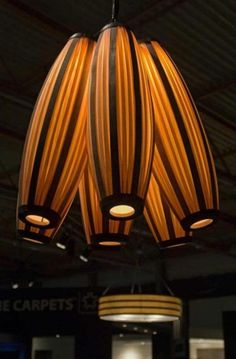 Permanent Link to : chandelier 2 – Contemporary Unique Lighting Design In Wood Veneer Ideas