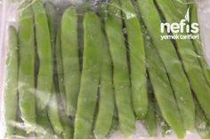 Buzlukta Kışlık Fasulye Tarifi Salty Foods, Iftar, Sweet And Salty, Food Storage, Preserves, Freezer, Asparagus, Pickles, Cooking Tips