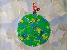Collage. Papir. Eventyr. Den lille prins. Kristina Borregaard Hall. Kriskrea.