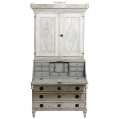 19th Century Swedish Gustavian Period Secretary with Library | See more antique and modern Desks at https://www.1stdibs.com/furniture/storage-case-pieces/desks