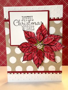 Stampin Up Joyful Christmas stamp set and Season of Style designer series paper