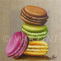 Macaroons painting mon tableau 4 macarons
