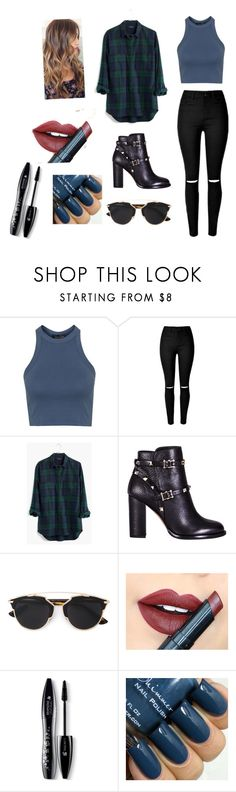 """Outfit #54"" by fashionfever4eva ❤ liked on Polyvore featuring Topshop, Madewell, Valentino, Christian Dior, Fiebiger, Lancôme, women's clothing, women, female and woman"