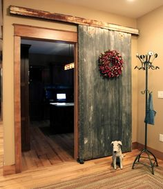 old barn door indoors