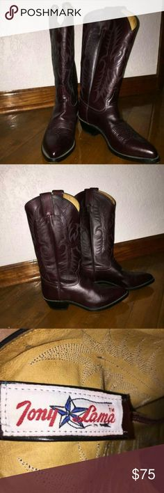 Tony Lama mens cowboy boots 8.5 Tony Lama mens cowboy boots size 8 barely used excellent condition probably vintage Tony Lama Shoes Boots