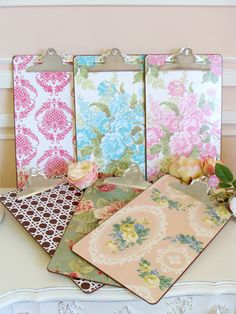 wallpaper covered clipboards