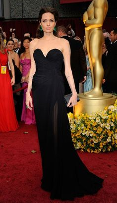 Angelina Jolie's 15 most memorable red carpet looks Oscars 2009