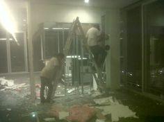 Demolición de tablarroca #oficinasAspel