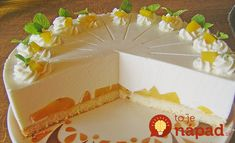 Výborná a osviežujúca letná torta plná fantastického krému a z ľahulinkého cesta. Dá sa však pripraviť aj úplne bez pečenia.  Potrebujeme:  Poznámka: Môžete urobiť aj verziu bez pečenie a ako základ použiť obyčajné piškóty či maslové sušienky)    Na