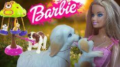 muñeca Barbie y sus perritos - Barbie doll and her dogs Barbie clean up ...