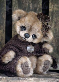 Three O'Clock Bears: Sweet Velvette...a pretty girl bear available
