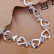 mode 20.5cm vrouwen zilveren koperen hart arm... – EUR € 7.35