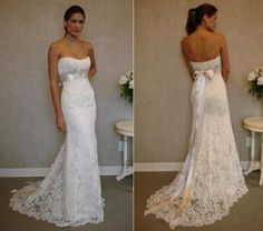 Image of Svatební šaty krajkové P14 Barva: Bílá, Velikost: 10