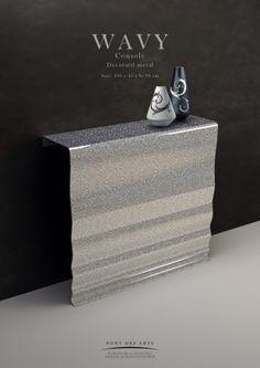 Wavy Console - Décoratif metal - Pont des Arts - Designer Monzer Hammoud - Paris