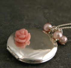 Silver Locket Valentines DayLove Memories  by gazellejewelry, $60.00