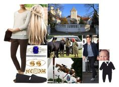 """Attending Day 2 of the Royal Horse Show on the grounds of Fantast Castle with Adam and David"" by josephineofbaden ❤ liked on Polyvore featuring Jennifer Meyer Jewelry, Fornash, FOSSIL, Lucie Campbell, FABIANA FILIPPI, TOMS and Steiff"