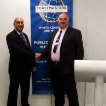 President Mark Fenech and I at Toastmasters Malta