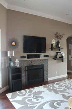 valspar paint hot stone | Valspar Hot Stone- maybe a little too much brown?