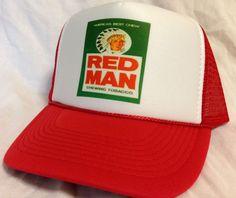 Redman chew Trucker hat - Liqueur ,Beer & Tobacco Trucker hats
