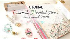 Tutorial Scrapbook: Diario de Navidad Parte 1 - Colaboración con Creavea