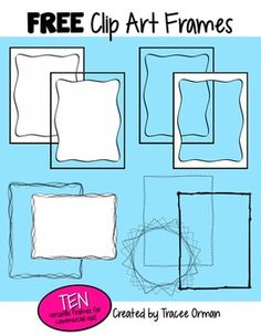 Free Clip Art Frames/Borders for Commercial Use, Volume 1
