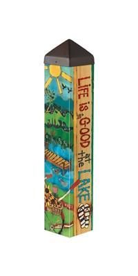 "20"" Lake Welcome Art Pole"
