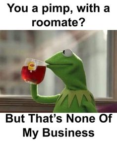 Kermit the frog - But that's none of my business..